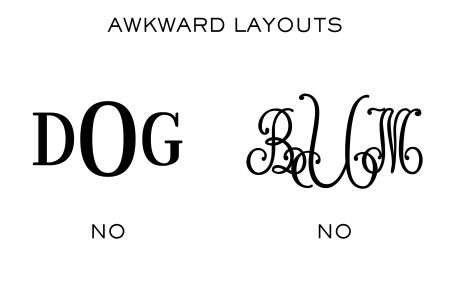 Awkward Layouts