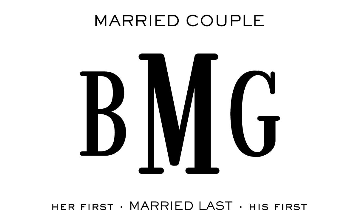 Monogram Etiquette_Married Couple