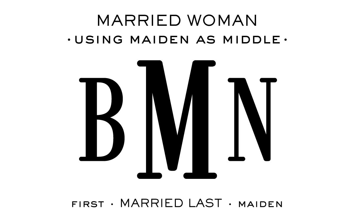 Monogram Etiquette_Married Woman - Maiden