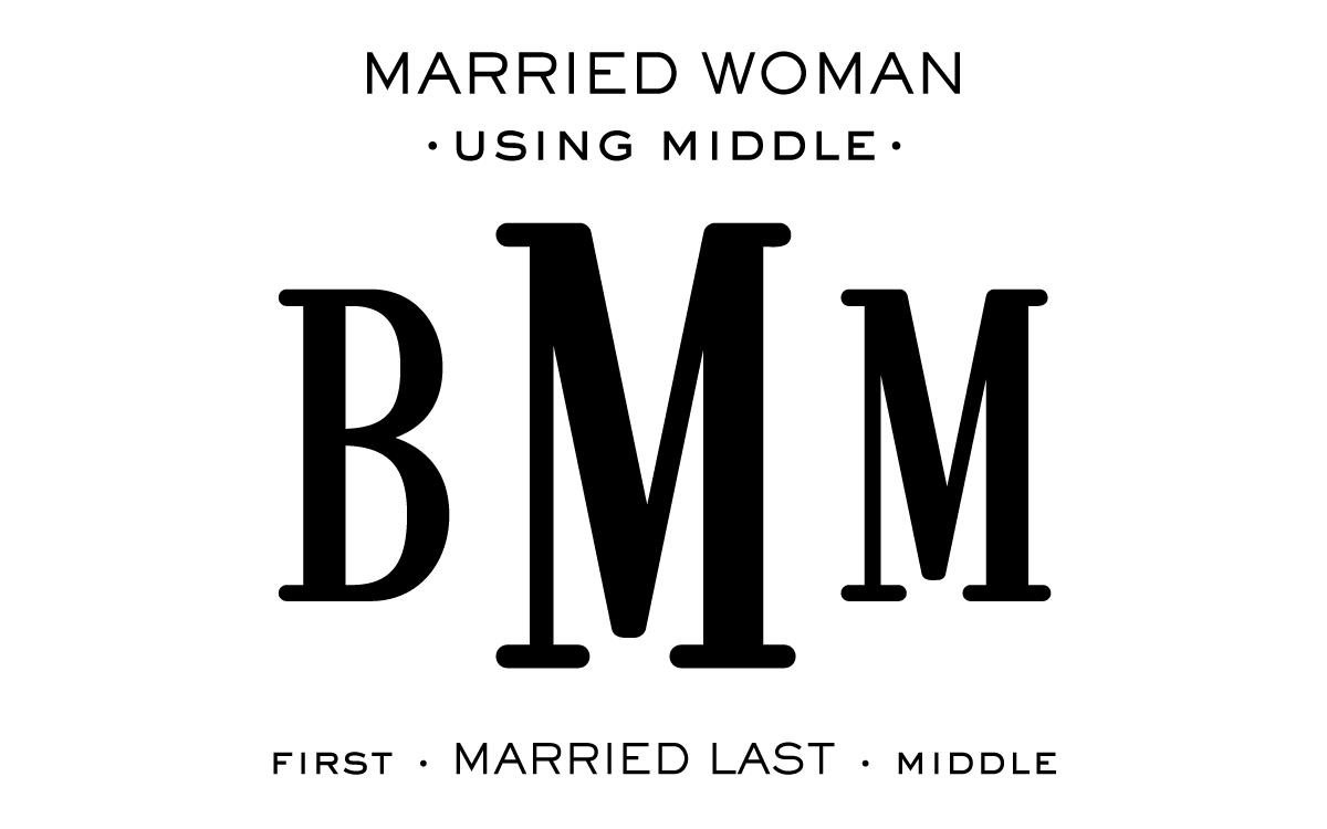 Monogram Etiquette_Married Woman - Middle
