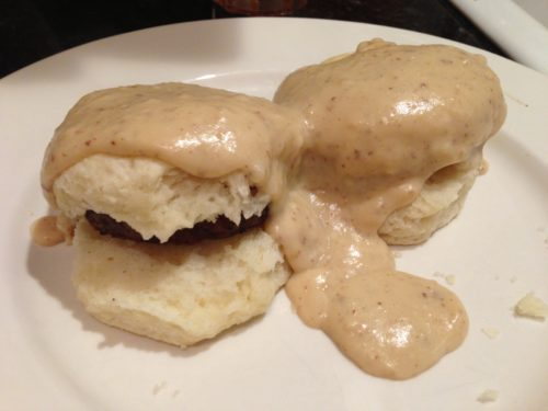 Sausage, Biscuits and Gravy