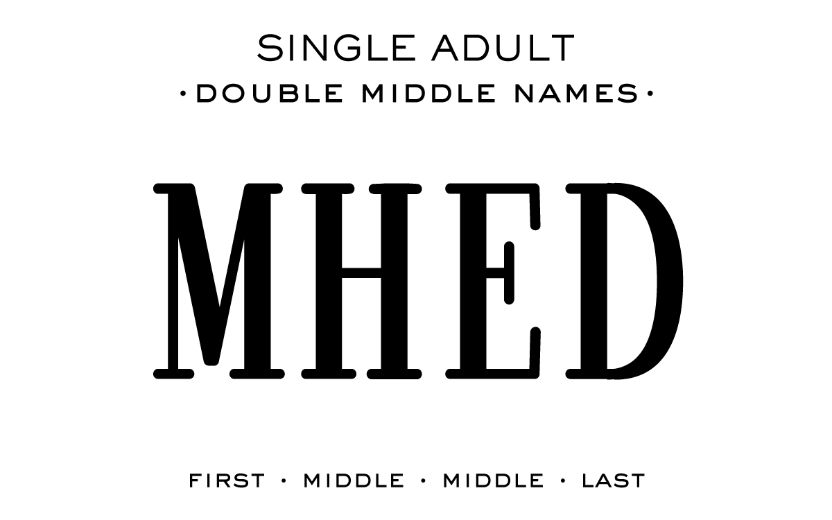 Single Adult - Double Middle